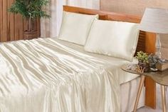 Bed, Furniture, Home Decor, White Silk, Satin, Decoration Home, Stream Bed, Room Decor, Home Furnishings