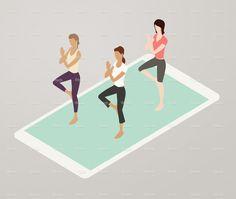 Aerobics App Illustration