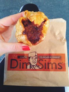 The South Melbourne Market and chai-infused apple 'dim sims'.