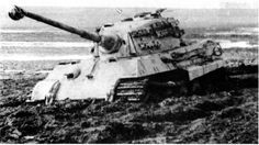 King Tiger in the mud. Hungary, 1944
