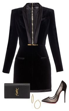 """."" by owl00 ❤ liked on Polyvore featuring Balmain, Christian Louboutin, Yves Saint Laurent, Bony Levy, women's clothing, women's fashion, women, female, woman and misses"