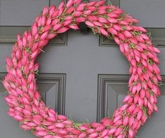 Girls Tea Party On A Budget - Passionate Penny Pincher Diy Spring Wreath, Diy Wreath, Door Wreaths, Girls Tea Party, Tulip Wreath, Trim Work, Tissue Paper Flowers, Dollar Tree Crafts, Flower Crafts
