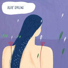 Spring blues illustration Aleksandra Jablokova