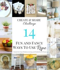 14 Projetos de corda divertimento e Fany DIY