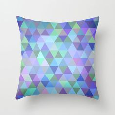 Violet Triangles Pillow Cover | dotandbo.com
