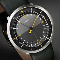 Botta design Duo watch - this is my current watch. Two hands, but not for the reason you think.