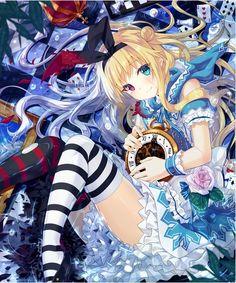 #Anime #AnimeGirl #AnimeArt #Illustration #Alice