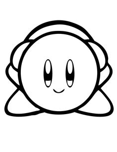 kirby sitting coloring page