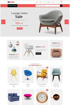 Wcom is a minimal and modern WordPress e-commerce theme built with Visual Composer page builder.Professionally done and inspired by the latest web design Ecommerce Web Design, Web Design Agency, Web Design Services, App Design, Website Design Layout, Layout Design, Website Designs, Web Design Examples, Store Layout