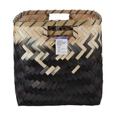 2 Pack Square Ombre Bamboo Baskets with Handles Bamboo Basket, Baskets, Target, Handle, Packing, Bag Packaging, Hampers, Target Audience, Hardware Pulls