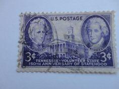 3c Tennessee Old 1945-1947 U.S. Postage Stamp.