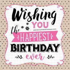 Verjaardagskaart Wishing You 1 Happy Birthday Video, Birthday Poems, Birthday Blessings, Happy Birthday Pictures, Best Birthday Wishes, Happy Birthday Messages, Happy Birthday Quotes, Happy Birthday Greetings, Birthday Greeting Cards