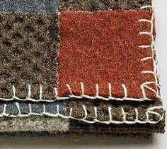 Blanket made from felted sweaters