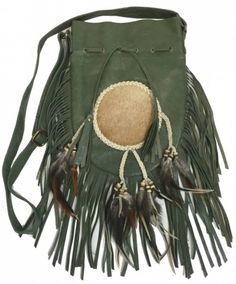 Hippie boho bohemian gypsy style green leather bag. For more followwww.pinterest.com/ninayayand stay positively #pinspired #pinspire @ninayay