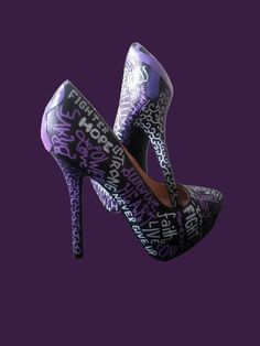 Domestic Violence Heels / Domestic Violence by WiseGalCustoms