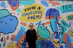 12 Street Art Murals to See in Chicago's Wicker Park Neighborhood – Traverse Murals Street Art, Street Graffiti, Mural Art, Chicago Murals, Chicago Street, School Murals, Graffiti Murals, Best Street Art, School Art Projects