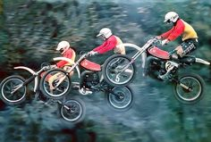 1979- Flying Montesa ad Old Scool, Motocross Riders, Valentino Rossi 46, Vintage Motocross, Old Images, Street Tracker, Dirtbikes, Sidecar, Ducati