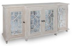 This gorgeous white washed buffet or sideboard provides ample storage and transitional style for any living room, dining room or hallway. Use this buffet as a m