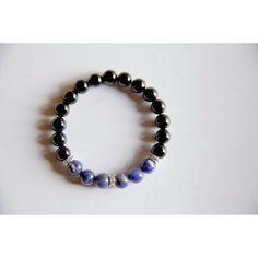The Throat Chakra - Genuine Black Onyx & Sodalite Bracelet #selfdefensebracelet