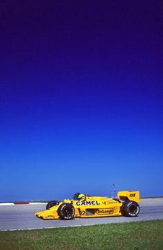 "amjayes: """"Being slower because of an inferior car didn´t occur to him. There was just Senna - the rest belonged behind him. Hans Joachim Stuck, F1 Wallpaper Hd, F1 Lotus, San Marino Grand Prix, Brazilian Grand Prix, Formula 1 Car, Ferrari F1, F1 Racing, Car And Driver"