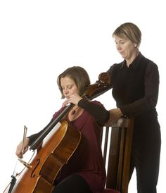 The Alexander Technique helps musicians. Susannah Baker with a student