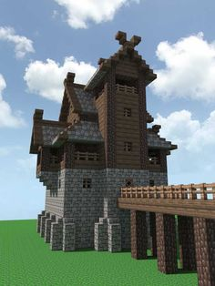 A Nordic fort - Minecraft Minecraft Crafts, Minecraft Fort, Casa Medieval Minecraft, Construction Minecraft, Minecraft Building Guide, Minecraft Mansion, Minecraft Structures, Minecraft Plans, Minecraft Houses Blueprints