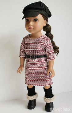 How to sew this easy outfit for an American Girl Doll or other 18 inch doll