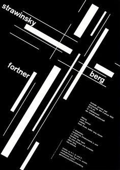 30 Glorieuses - SUISSE Josef Müller-Brockmann - Rigueur, expression du sens dans la micro typographie.