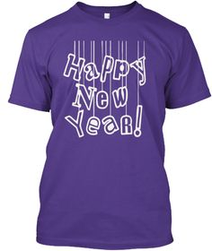 Happy New Year 2017 T Shirt Purple áo T-Shirt Front