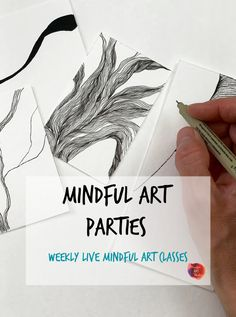 Mindful Art Parties - free mindful art workshops  - these have helped me relax and make better art! Doodle Drawings, Cute Drawings, Art Party, Art Therapy, Beautiful Patterns, Pattern Art, Art Education, Cool Things To Make, Compassion