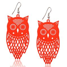 How cute are these orange owl hook earrings, a must have! Only $12.95 plus $2 postage. Email us at Loveloveloveaccessories@ gmail.com to arrange payment & delivery.