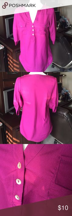 41 Hawthorn magenta blouse 41 Hawthorn Magenta 3/4 lengths sleeve blouse.  Polyester, hand wash. 41 Hawthorn Tops Blouses