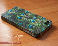 Apple iphone case for iphone iPhone 5 iphone 4 iphone 4s iphone 3Gs : Peacock feather pattern