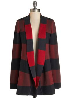 Simply Snuggly Cardigan. Casual days are a whole lot comfier when you wear this checkered cardigan by Bea  Dot!  #modcloth