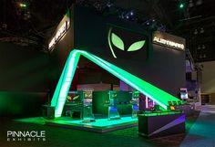 Alienware Tradeshow exhibit design - electronics and gaming 2013