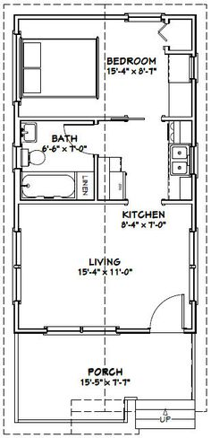14x40 cabin floor plans   Tiny House   Pinterest ...