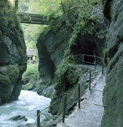 Partnach Gorge in Garmish is fun until you get lost on the trails.