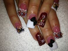 49er nails by Blanca;)