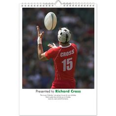 Personalised Calendars - Rugby (Starts on month of your choice)