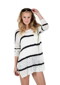 Earn Your Stripes Sweater in Ivory | Necessary Clothing