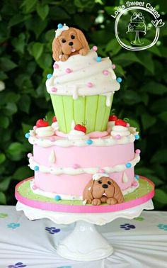 Puppies and cupcake