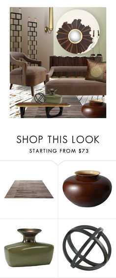"""""""Olive Brown ~ Brabbu: Style It! ~ Contest"""" by tiffanysblues ❤ liked on Polyvore featuring interior, interiors, interior design, home, home decor, interior decorating, ESPRIT, OKA, Middle Kingdom and Cyan Design"""