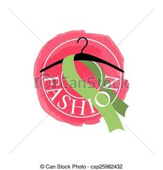 Vectors of vector logo scarf on a hanger for fashion csp25982432 ...