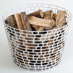 beautiful fire log basket