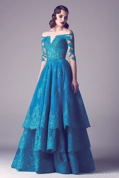Fadwa Baalbaki Spring 2015 Couture Collection | Wedding Inspirasi #bluedress #bluegown
