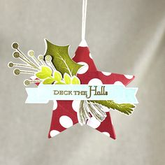 Star Christmas Ornament by Lizzie Jones for Papertrey Ink (July 2016)