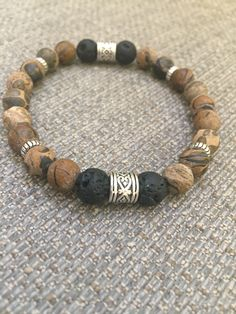 Essential Oil Diffuser Bracelet Lava Bead Men Boy Him Bracelet Set, Bracelet Making, Jewelry Making, Bracelets For Men, Fashion Bracelets, Fashion Jewelry, Aromatherapy Jewelry, Aromatherapy Diffuser, Oil Diffuser