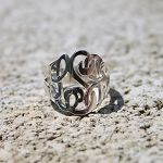 Cut Out Monogram Ring | monogrammed, personalized, monogram cut out ring.****