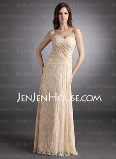 Evening Dresses - $142.99 - Sheath Sweetheart Floor-Length Lace Evening Dress With Ruffle (017025831) http://jenjenhouse.com/Sheath-Sweetheart-Floor-Length-Lace-Evening-Dress-With-Ruffle-017025831-g25831