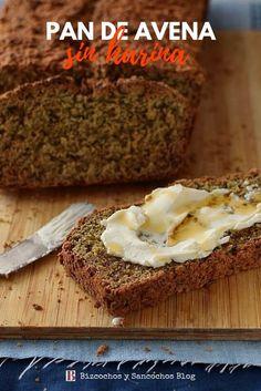 Pan de avena sin harina de trigo, rápido de hacer, no requiere levadura ni amasado, receta paso a paso #recetas #panes #avena #desayunos